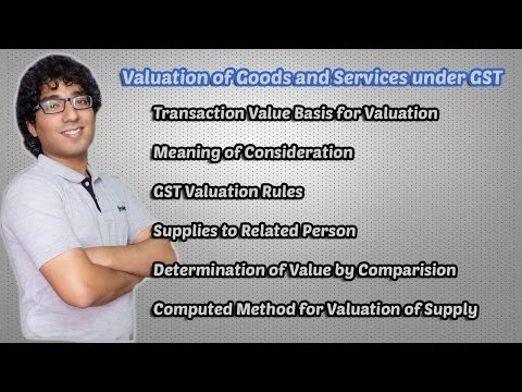 Valuation of Goods and Services under GST