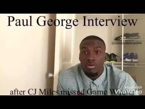 Paul George Interview after Cj Miles missed game winner against Cleveland Cavaliers