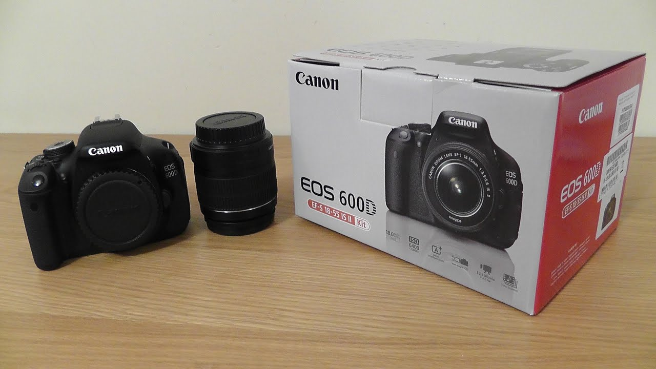Canon 600d rebel t3i unboxing first look 18 55mm lens for Housse canon eos 600d