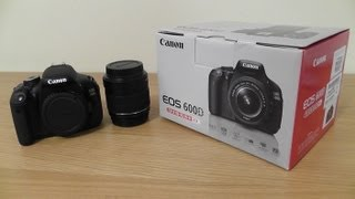 Canon 600D Rebel T3i Unboxing + First Look [18-55mm Lens Kit]