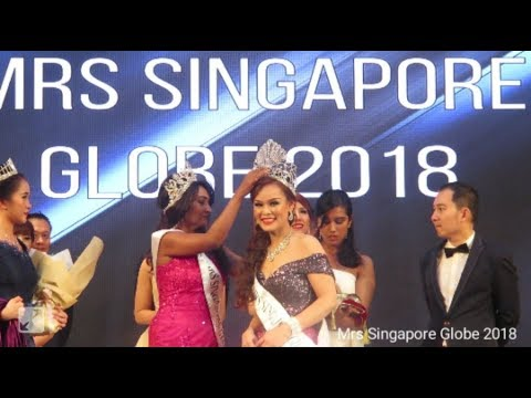 Crowning of Mrs Singapore Globe 2018 - Cherry Lok