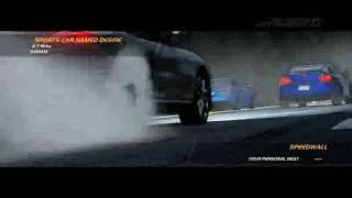 NFS hot pursuit sports car named desire 1st place