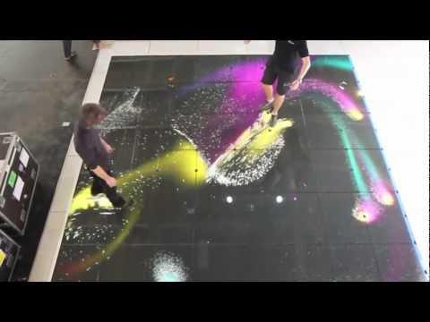 видео: led интерактивный пол