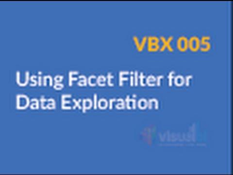 VBX 005 Using Facet Filter for Data Exploration
