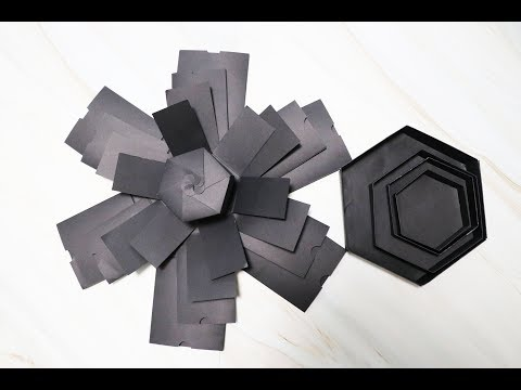 Explosion box/DIY Crafts/Explosion paper gift box/how to make basic explosion box