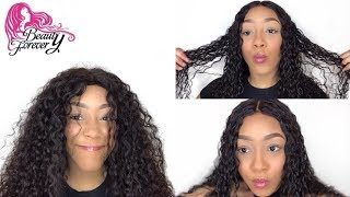 WATCH ME TAME THIS CURLY WIG Ft. Beauty Forever Malaysian Curly Hair (Routine)