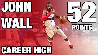 John Wall Scores Career High 52 | 12.06.16