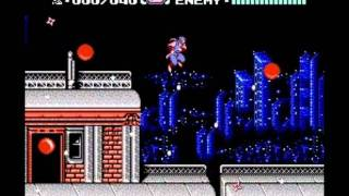 GSCentral.org - Ninja Gaiden 2 (NES) - Snow Falls On The 1st Section of Stage 1 (GG)