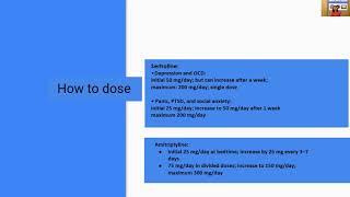 Sertraline and Amitriptyline by Dr. Namrata Jagtap