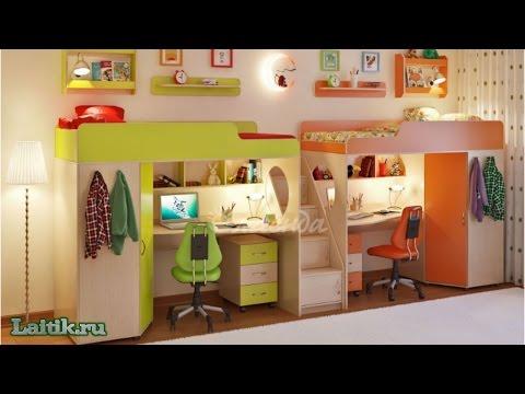 Детская комната и двухъярусная кровать Легенда 14. Мебель. Интернет-магазин Лайтик
