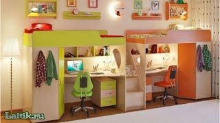 """Детская комната и двухъярусная кровать """"Легенда 14"""". Мебель. Интернет-магазин """"Лайтик"""""""
