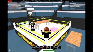 wrw wwe roblox my title macth guess who won :)