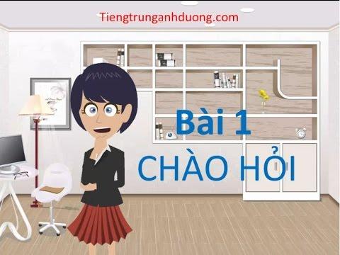 Học giao tiếp tiếng Trung chủ đề chào hỏi