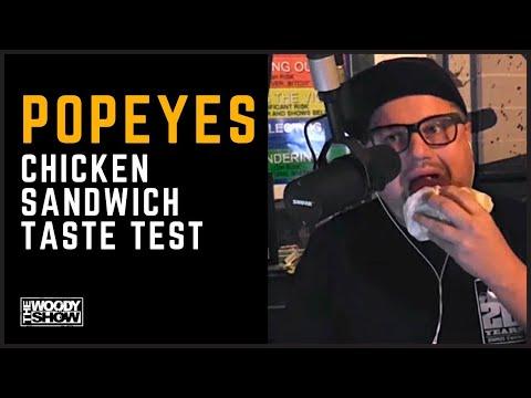 The Woody Show - Popeyes Chicken Sandwich Taste Test