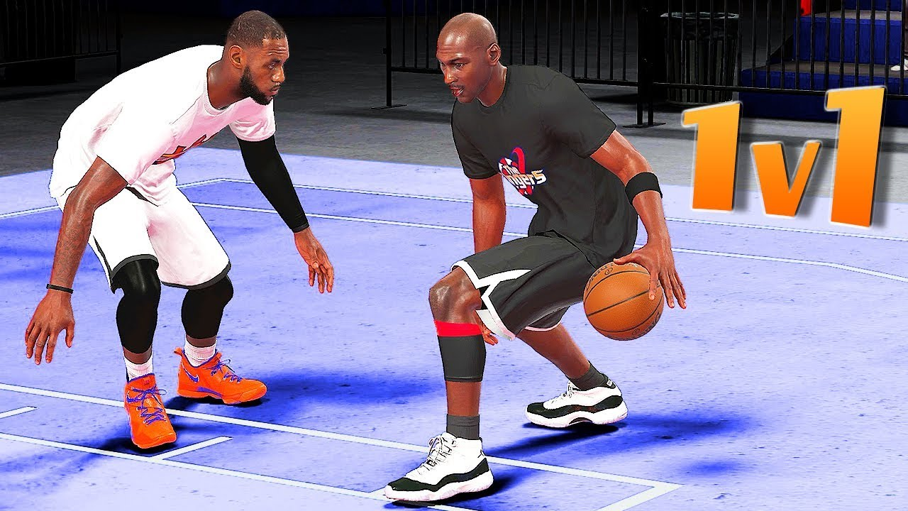 04da8882666 The KING vs The GOAT   LeBron James vs Michael Jordan 1v1 - NBA 2K18 ...