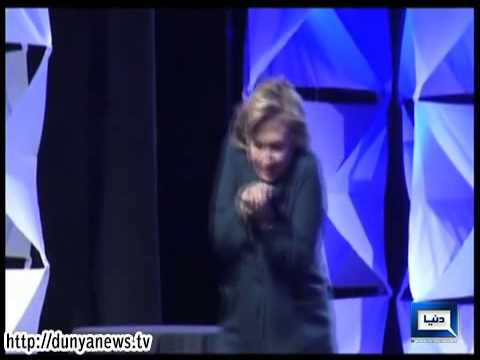 Woman Throws Shoe at Hillary Clinton During Speech in Las Vegas