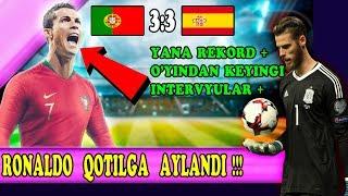 ДАХШАТ !!! Роналду Қотилга Айланди Испания - Португалия уйинидан кейинги интервюлар !!!