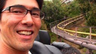 日本モンキーパークのアトラクション「ハイウェイコースター」