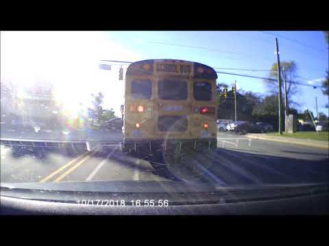 Guilford County School Bus Caught on Video Blowing Through Red Light