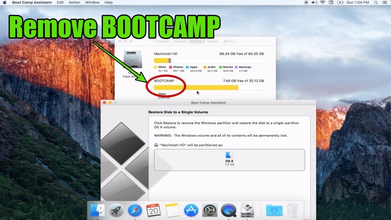 UNINSTALL BOOT CAMP DRIVER FOR WINDOWS 10