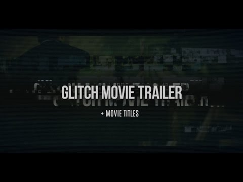 glitch movie trailer after effects cs5 template youtube. Black Bedroom Furniture Sets. Home Design Ideas