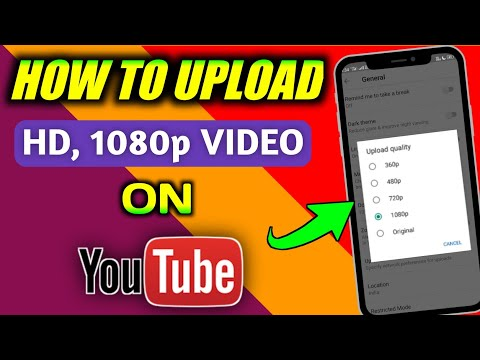 How to upload HD, 1080p quality video on your YouTube !! YouTube par HD  Quality Video Upload kare !