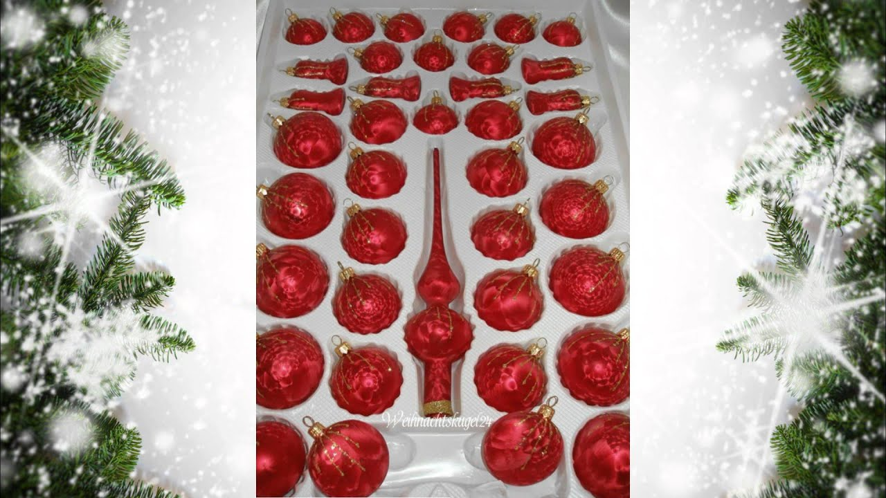 design weihnachtskugeln ice rot gold regen by christbaumkugeln christmas balls red youtube. Black Bedroom Furniture Sets. Home Design Ideas