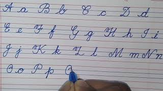 How to write english capital and small letter in cursive.