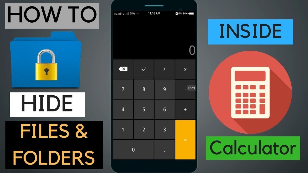 How To Hide Your Secret Photos Or Videos In Calculator Mobile App Photo Vault App Gallery Lock Youtube
