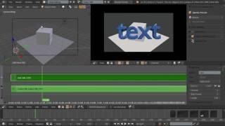 Видео-редактор Blender 28 - Импорт 3D-сцены
