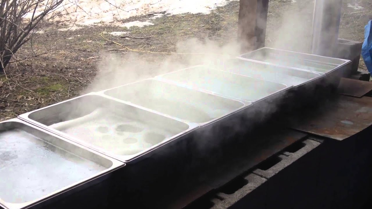 homemade maple sap evaporator youtube