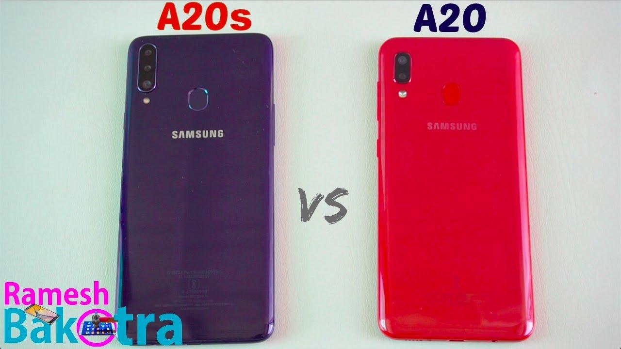 samsung galaxy a20s vs a20 speedtest and camera comparison