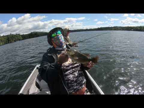 Squam Lake Smallmouth Bass Fishing