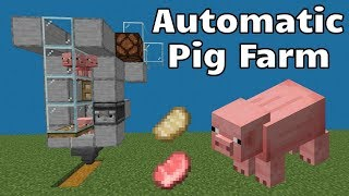 Simple Minecraft Pig Farm - Automatic Pig Cooker
