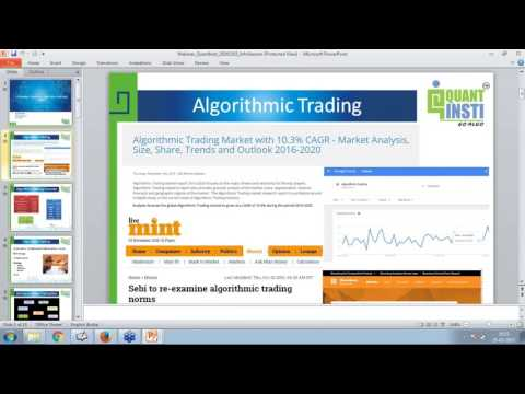 Webinar – Algorithmic Trading in India – How to start, Common pitfalls, and Profit
