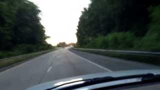 Road Trip to Georgia - The setting sun...