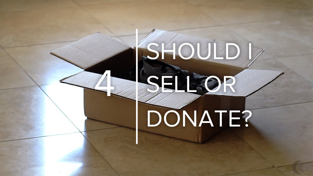 Should You Sell or Donate Your Excess Stuff?