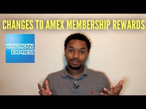 American Express: Changes To Amex Membership Rewards