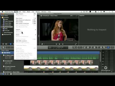 How do you export a master copy of a finished movie in Final Cut?