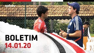 BOLETIM DE TREINO: 14.01   SPFCTV