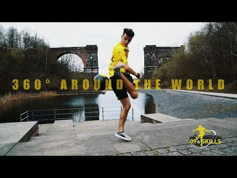 "BVB-Freestyle-Tutorial | 360° AROUND THE WORLD | ""09 Skills"" with German Champion Marcel Gurk"