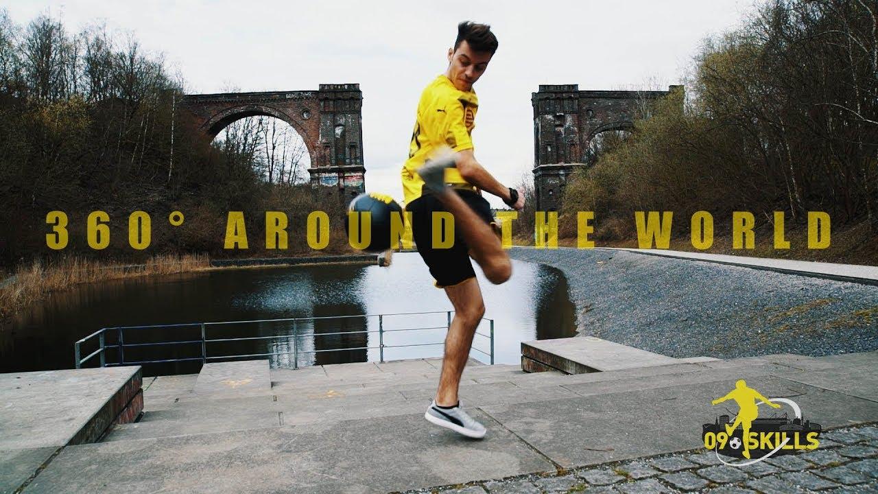 "BVB-Freestyle-Tutorial | 360° AROUND THE WORLD | ""09 Skills"" with German Champion Marcel Gurk"