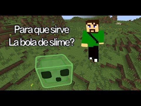Para que sirve la bola de slime? - Minecraft