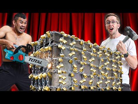 ตู้เซฟถูกล็อคไว้กับกุญแจ 1,000 ดอก!! ใครทำลายก่อนชนะ!!