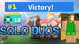 Insane Solo Duo 18 kill game! ROBLOX Island Royale!