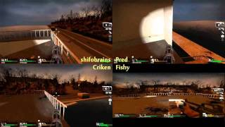 L4D - Four-Way Split-Screen Powerstation Finale