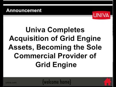 Univa Acquires Grid Engine Software Assets