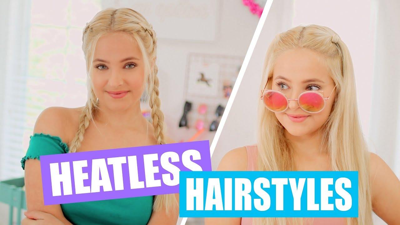 Easy Heatless Hairstyles For School Youtube