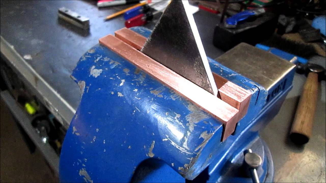 Soft Jaws For Bench Vise Part - 19: Copper Jaws For The Wilton Vise - YouTube