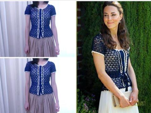Kate Middleton Look Alike Crochet Top Youtube